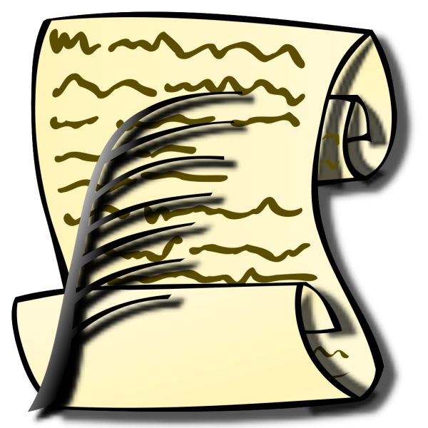 Scroll And Feather PNG Clip art