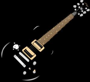 Black Guitar PNG Clip art