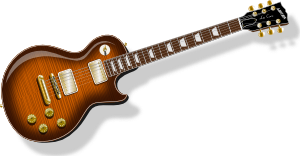 Guitar With Flametop Finish PNG Clip art