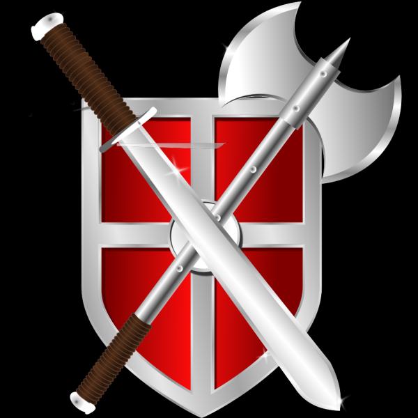 Sword Battleaxe Shield PNG Clip art