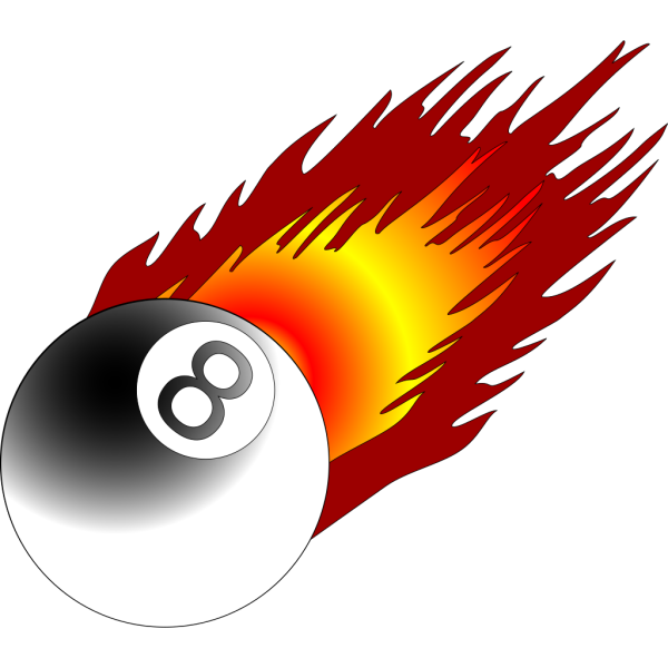 Ball With Flames 3 PNG Clip art