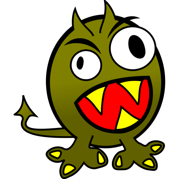 Small Funny Angry Monster PNG Clip art