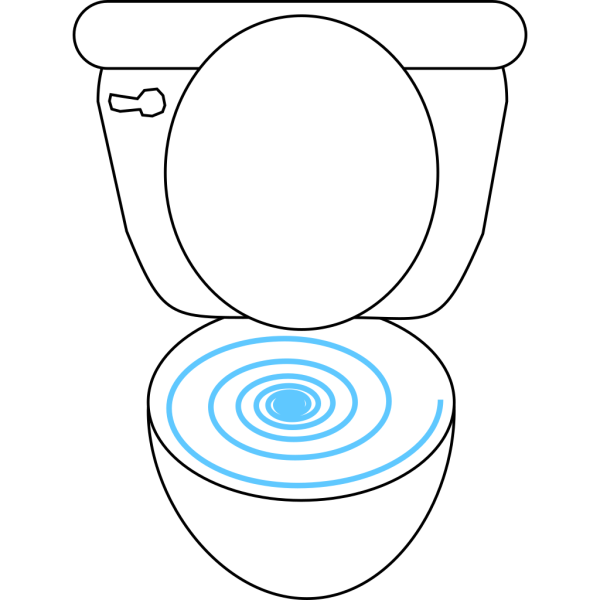 Swirly Toilet PNG Clip art