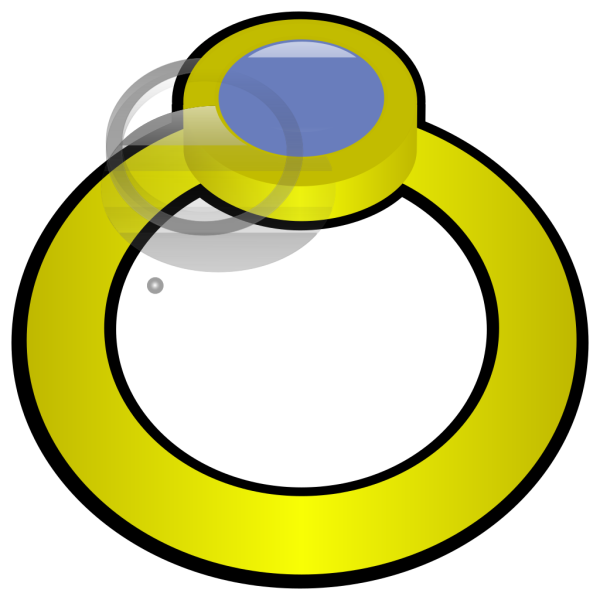 Golden Ring With Gem PNG icons