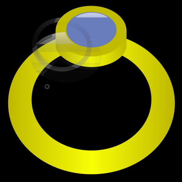 Golden Ring With Gem PNG Clip art