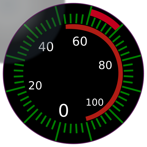 Digital Speedometer PNG Clip art