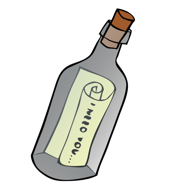 Message In A Bottle PNG Clip art