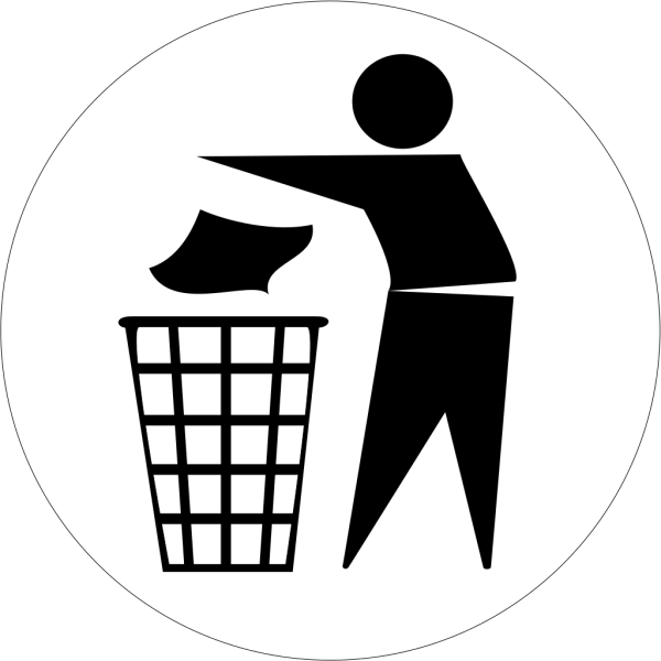 Doctormo Put Rubbish In Bin Signs PNG Clip art