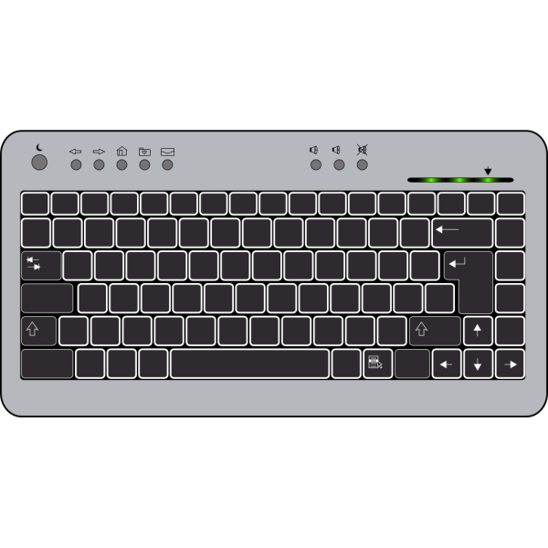 Compact Keyboard PNG Clip art