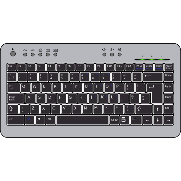 Compact Computer Keyboard PNG Clip art