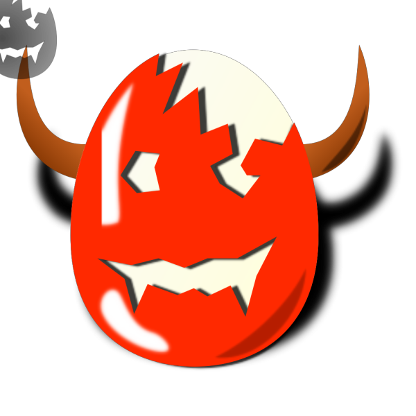 Broken Wicked Easter Egg Shell PNG Clip art