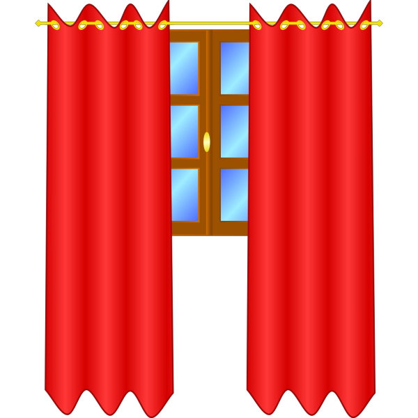 Window With Draperies PNG Clip art
