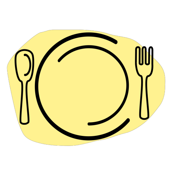 Iammisc Dinner Plate With Spoon And Fork PNG Clip art