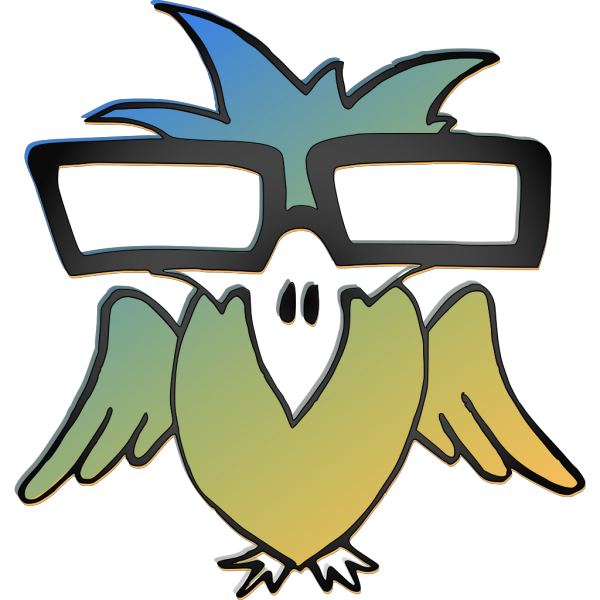 Bird With Glasses PNG Clip art