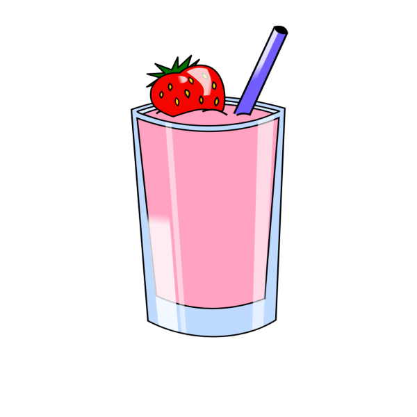 Strawberry Smoothie Drink Beverage Cups PNG images