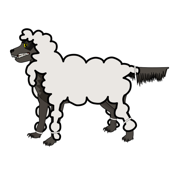 Jonadab Wolf In Sheep S Clothing PNG Clip art