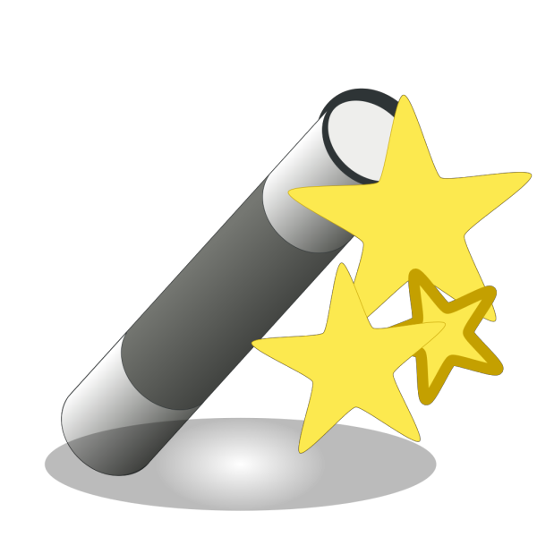 Wand With Stars PNG Clip art
