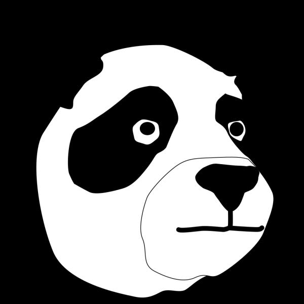 Panda Head PNG Clip art