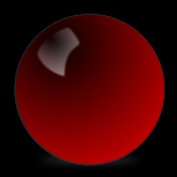 Stellaris Red Snooker Ball PNG Clip art
