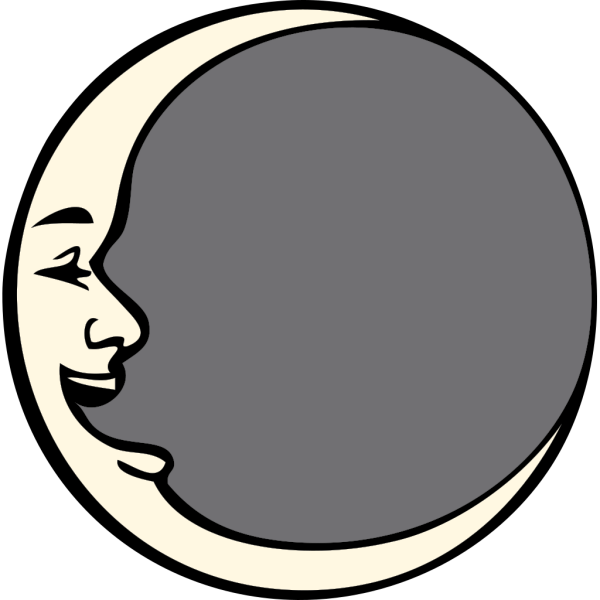 Man In The Moon PNG Clip art