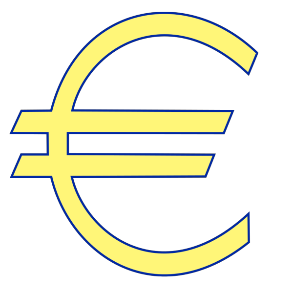 Archie Symbol Money Euro Simple PNG Clip art