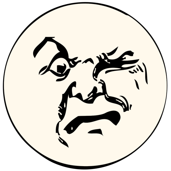 Angry Moon PNG Clip art