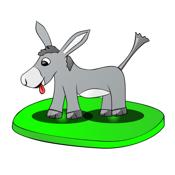 Donkey On A Plate PNG Clip art
