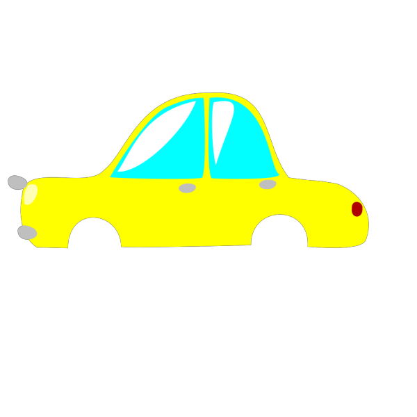 Yellow Car PNG Clip art