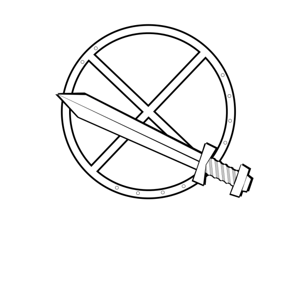 Jonadab Round Sword And Shield PNG Clip art