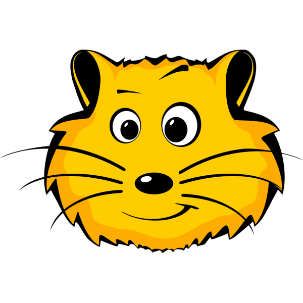 Comic Hamster Face PNG images