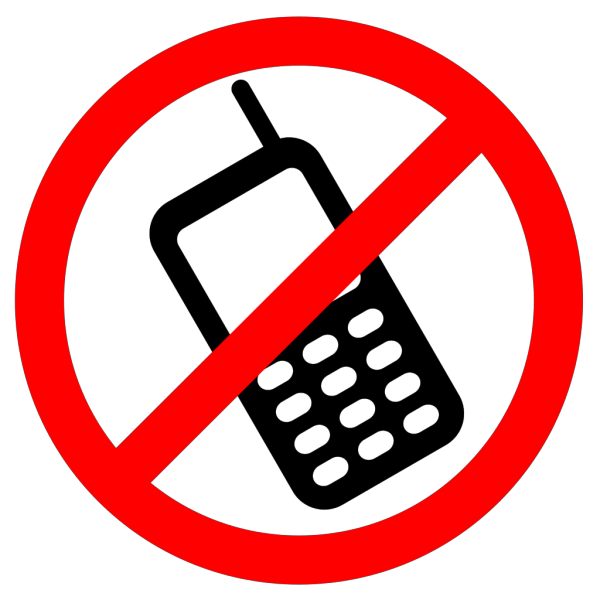 No Cell Phones Allowed PNG images