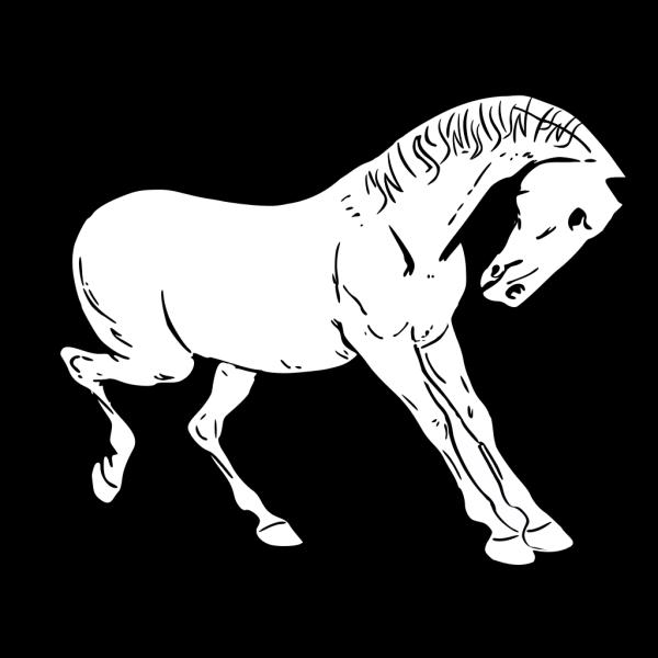 Prancing Horse Outline PNG Clip art