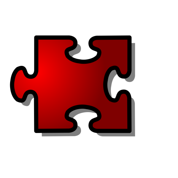 Red Jigsaw Piece PNG Clip art