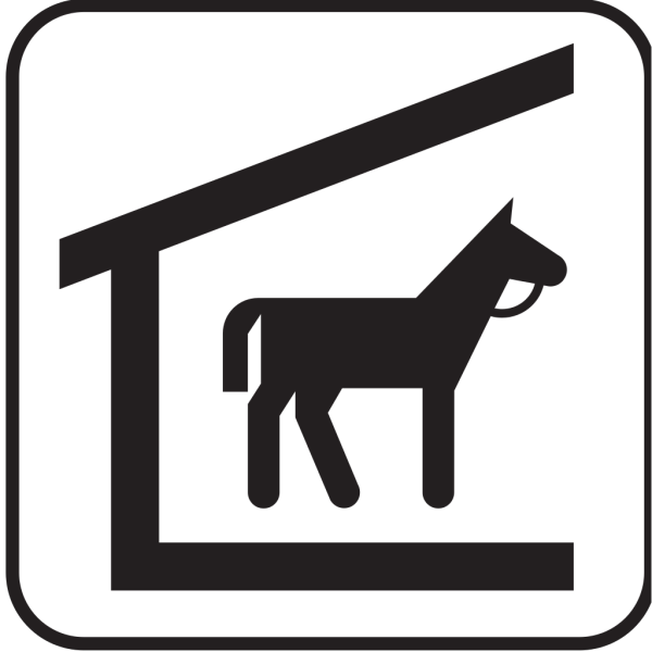 Horse Stable 1 PNG Clip art