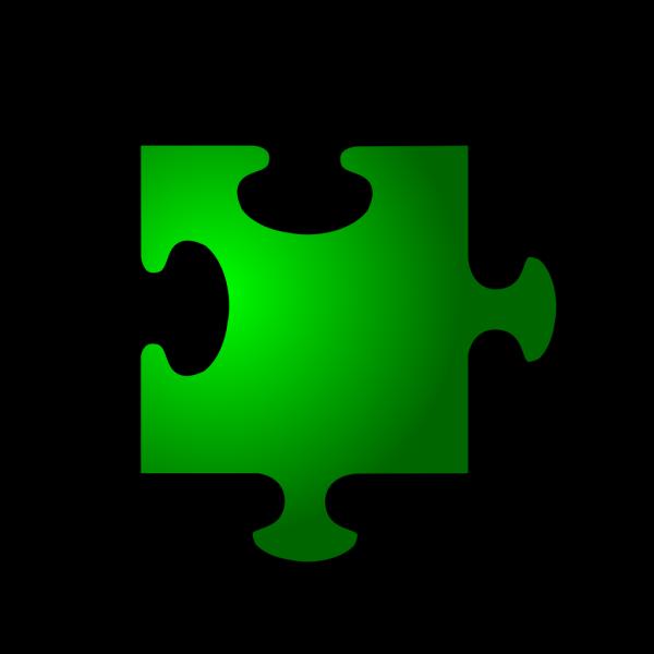 Green Jigsaw Piece 5 PNG Clip art