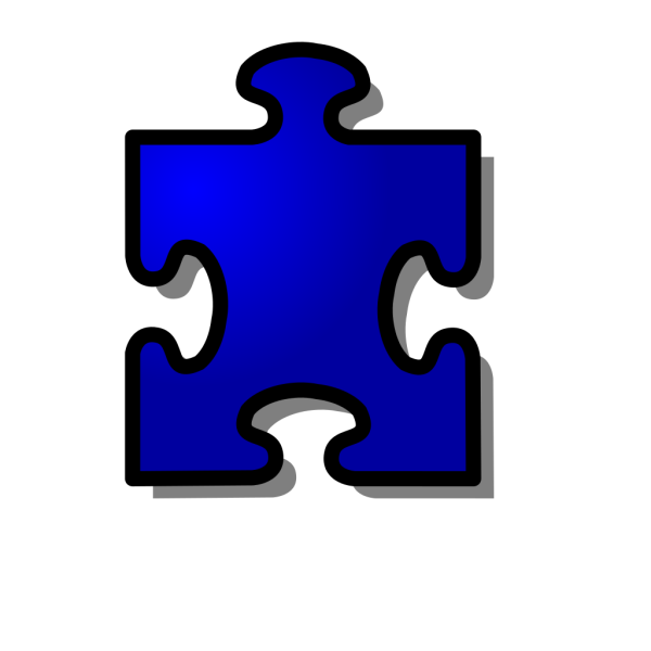 Blue Jigsaw Puzzle Piece PNG clipart