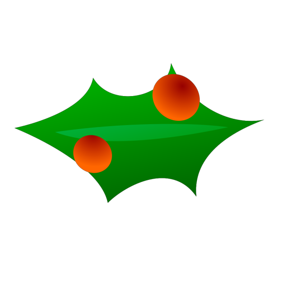 Christmas Leaf Decoration PNG icons