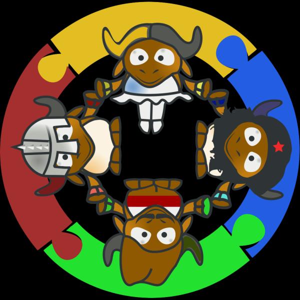 Gnu Circle PNG Clip art
