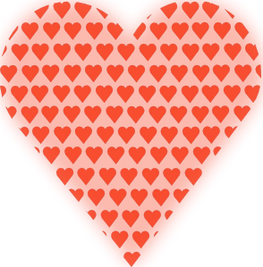 Heart In Heart Light Red PNG Clip art
