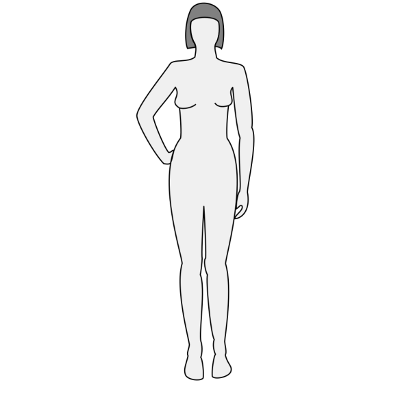 Female Body Silhouette Front PNG Clip art
