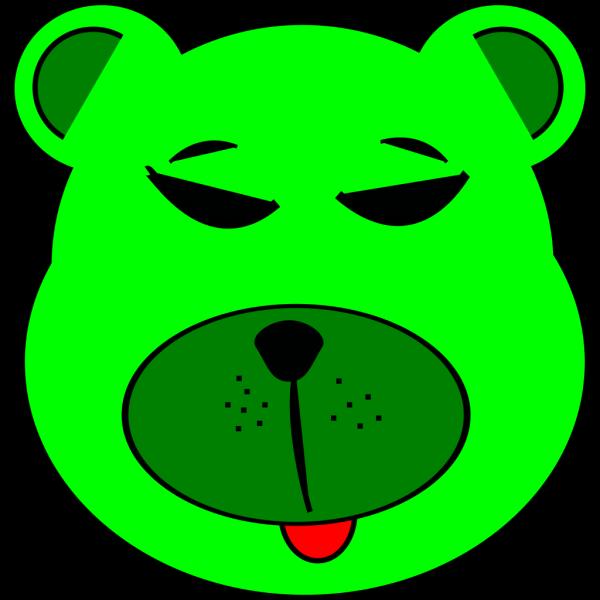 Green Bear PNG Clip art