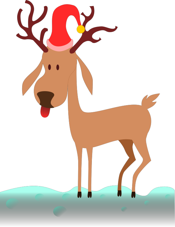 Reindeer Outline PNG icon