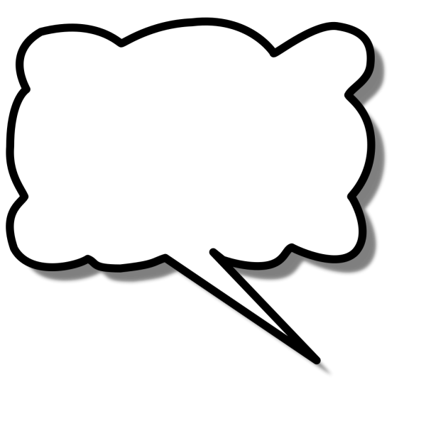 Callout Cloud Right PNG Clip art