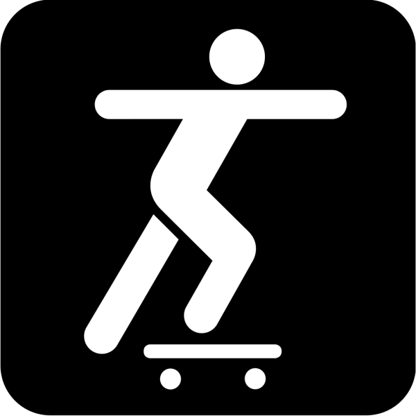 A Person Sliding On A Skate Board PNG Clip art