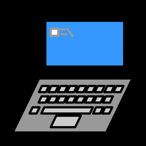Laptop Outline PNG Clip art