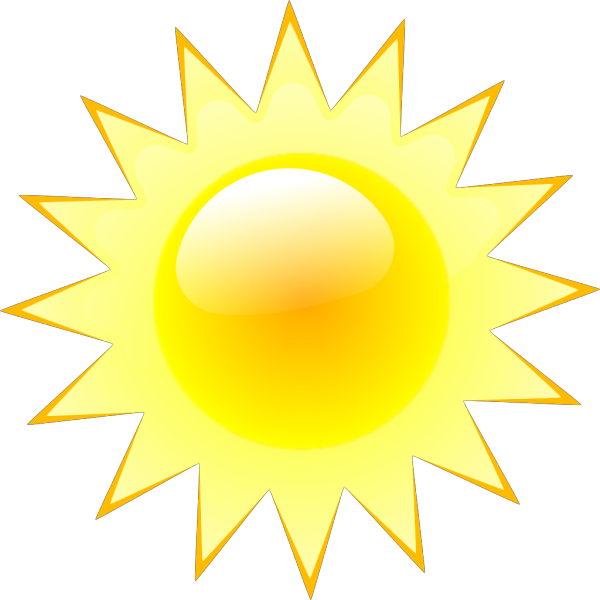 Very Light Clouds And Sun  Weather Symbols PNG Clip art