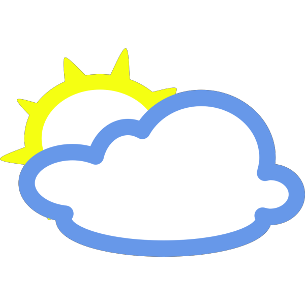 Light Clouds And Sun Weather Symbol PNG Clip art