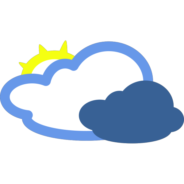 Heavy Clouds And Sun Weather Symbol PNG Clip art