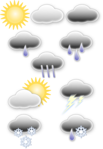 Light Rain Weather Symbols PNG Clip art