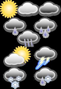 Light Rain Weather Symbols PNG Clip art